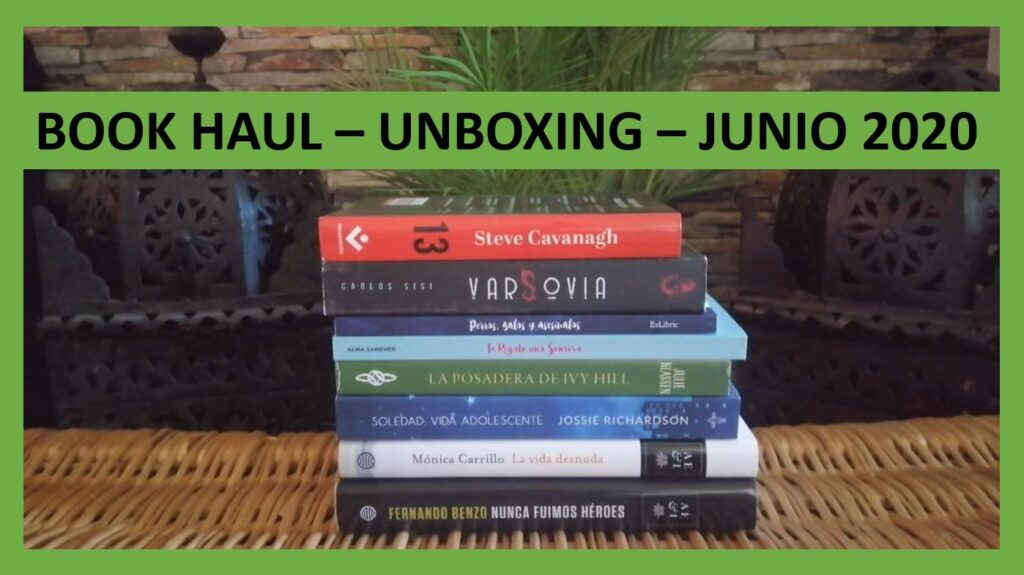 book haul junio